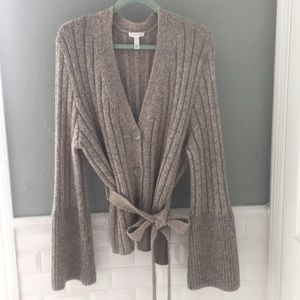 Leith wool blend cardigan sweater